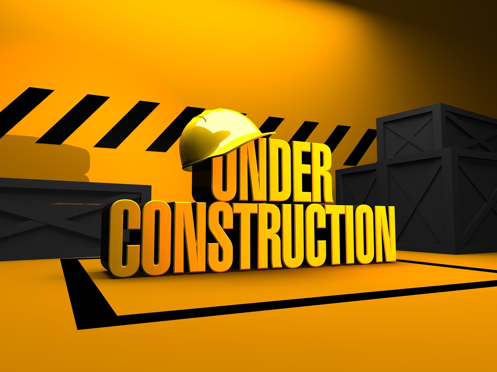 Under Construction image with box and Hard Hat